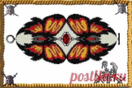 Схемы браслетов с бабочками и узорами - Животные - Схемы плетения бисером - Сокровищница статей - Плетение бисером украшений, деревьев и цветов, схемы мк