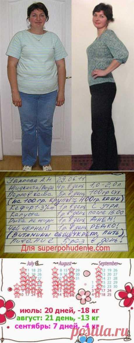 Диета Пушинка. Минус 35 кг! / Копилка диет
