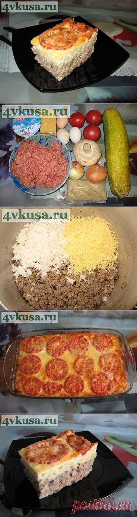 Запеканка из кабачков с фаршем. Фоторецепт.   4vkusa.ru