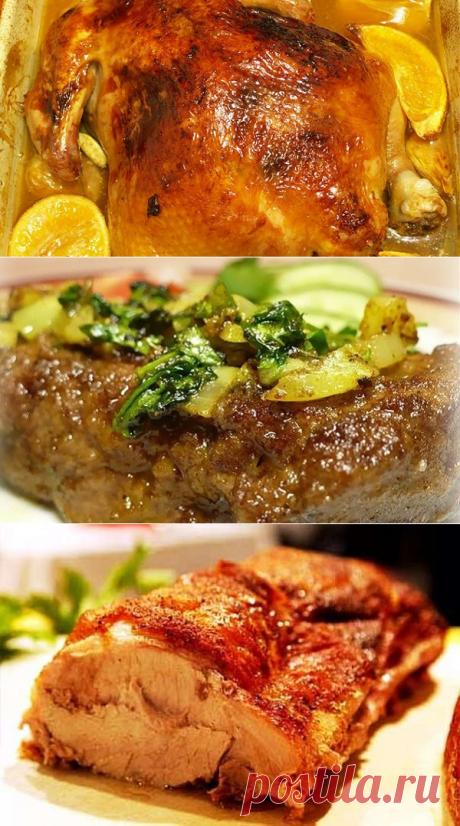 5 простых рецептов мяса в рукаве