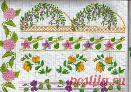 Оригинальные канты и бордюры с цветами