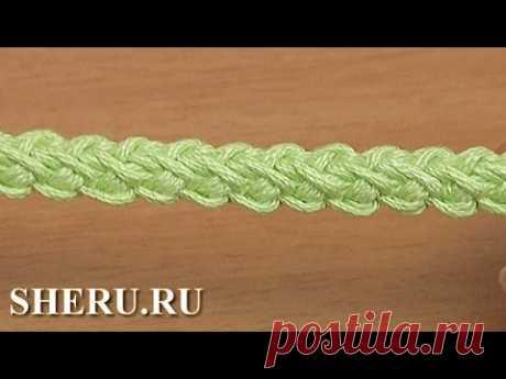 Вязание шнура гусенички из полустолбиков Урок 109