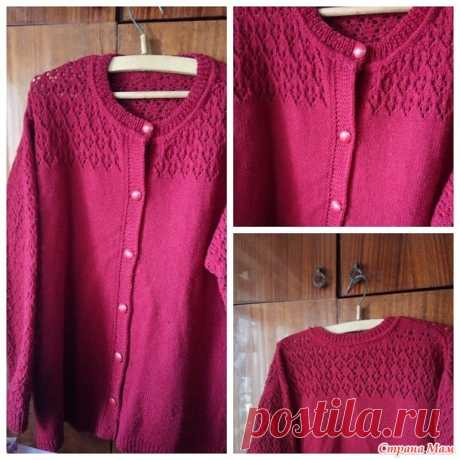 Openwork jacket - Knitting by spokes - the Country of Mothers