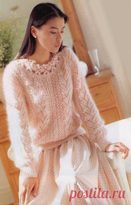 Вязание спицами из мохера спицами - описание схем вязания для женщин