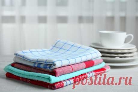 Как экономно обновить засаленные кухонные полотенца, чтобы вернулся магазинный вид | FUNTIQ.COM