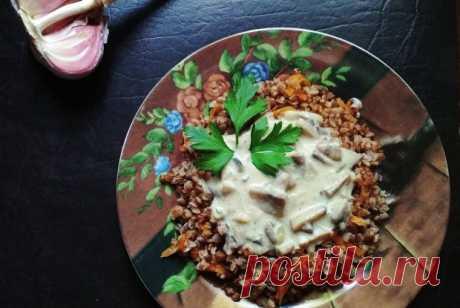 Гречка с грибной подливой рецепт – русская кухня, вегетарианская еда: основные блюда. «Еда»