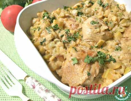Куриные бедра в соусе из кабачков – кулинарный рецепт