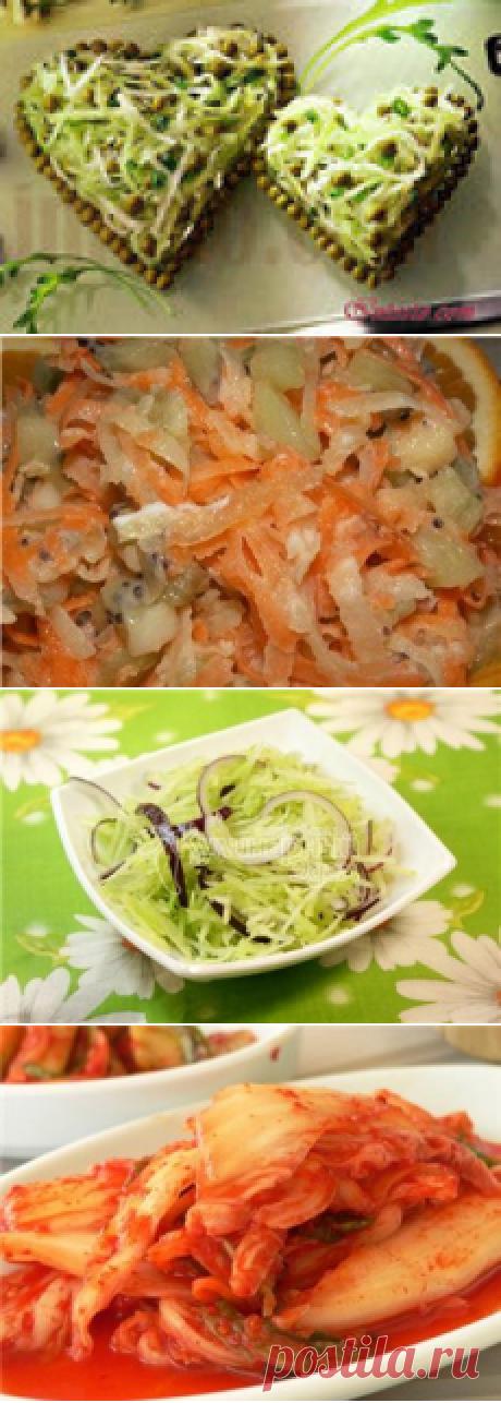 Las ensaladas del rábano verde