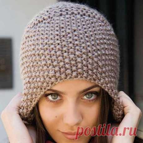 Шапка узором Рис спицами – 10 моделей вязания со схемами и описанием, видео — Пошивчик одежды