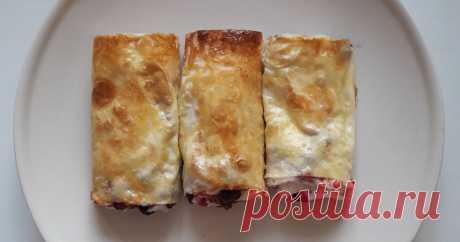 ¡El panecillo de lavasha con el requesón el Autor de la receta Ekaterina la receta De clase - el Panecillo de lavasha con el requesón! ¡La variante muy sabrosa y rápida para los aficionados de la cocción dulce sin daño para la figura!