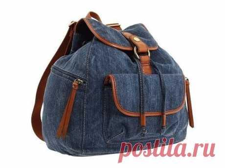 Джинсовый рюкзак: выкройка