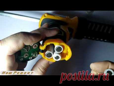 Пистолет для герметика и силикона переделка под аккумуляторы
