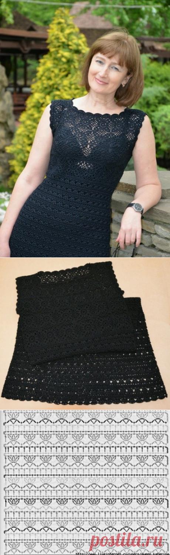 Маленькое черное вязаное платье
