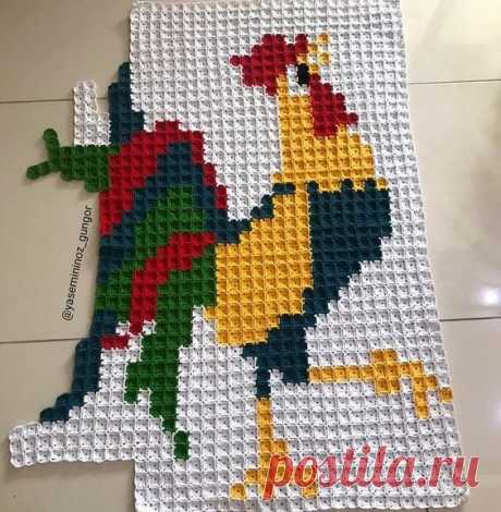 Пиксельное вязание из квадратиков