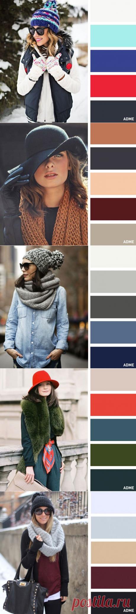 15 сочетаний цветов для шапок и шарфов | Изюминки