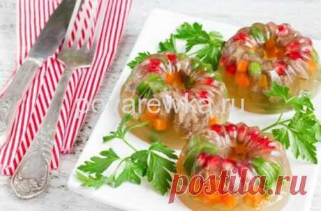 Холодец из курицы с желатином: рецепт с фото пошагово