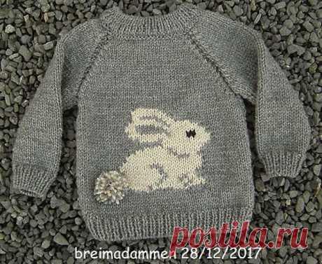 Ravelry: Sweet Bunny Sweater pattern by de breimadammen Узоры Для Детских Свитеров,