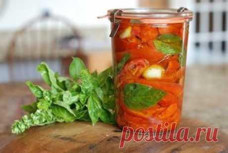 Вяленые помидоры с базиликом  Ингредиенты:  базилик свежий Показать полностью…