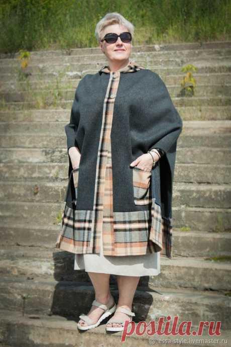 Купить Бохо-пальто 1 - пальто, накидка, накидка с капюшоном, бохо пальто, балахон
