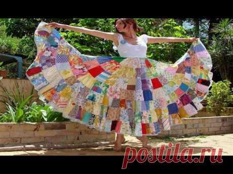 Яркая одежда в стиле Пэчворк для смелых Женщин