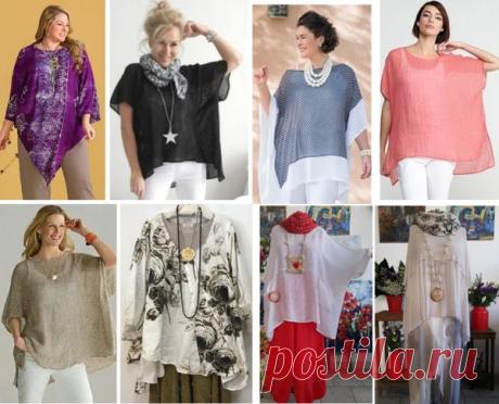 Выбираем модель и подбираем выкройку для летней туники и блузы оверсайз | МНЕ ИНТЕРЕСНО | Яндекс Дзен