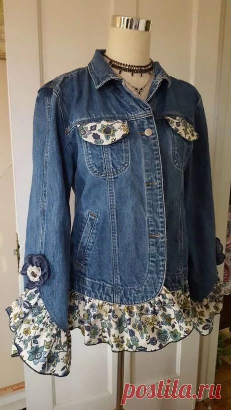 """Обновляем старые джинсовые вещи: Новые идеи """"Переделки"""""""