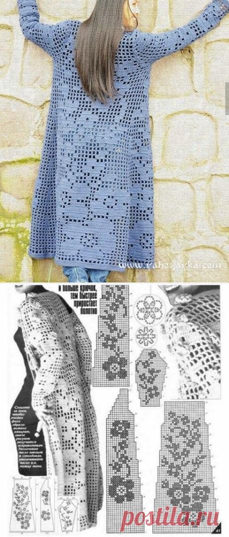 El abrigo veraniego de filete viscoso con los esquemas. La cinta de filete para el abrigo veraniego | Mí el Ama