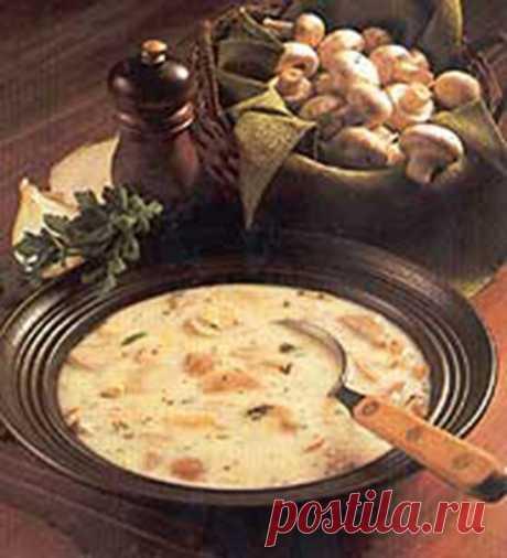 Крем-суп из шампиньонов  Ингредиенты: шампиньоны — 300 г. репчатый лук — 1 шт. Показать полностью…