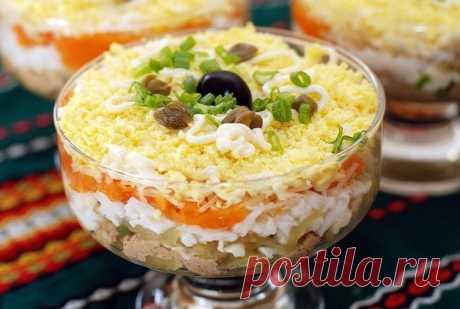 Слоеный салат «Печёнкин»