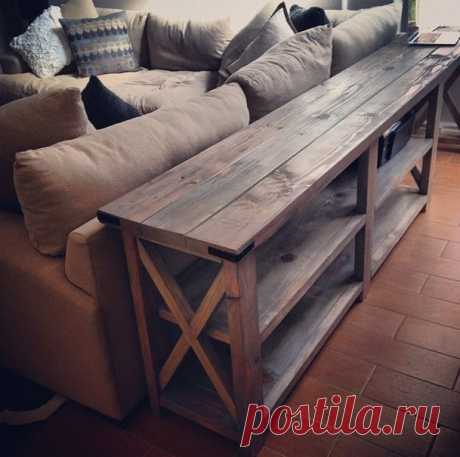 Pallet projects: DIY sofa table This is an Ana White Design. It cou...