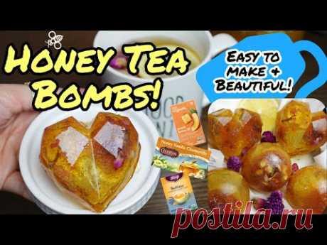 Honey Hot Tea Bomb! EASY, TASTY, and BEAUTIFUL!