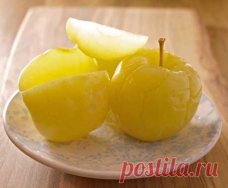 Моченые яблоки в банках - очень вкусная заготовка