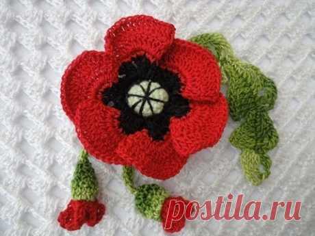 Poppy with buds of Poppy with buds Crochet