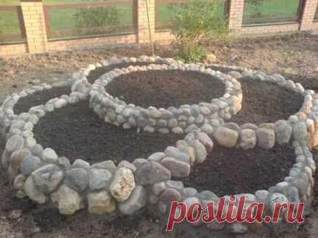 Клумба из камней своими руками: простые идеи как сделать стильную и оригинальную каменную клумбу (140 фото)