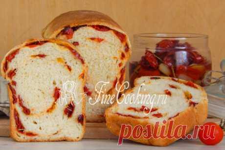 Пшеничный хлеб с вялеными помидорами