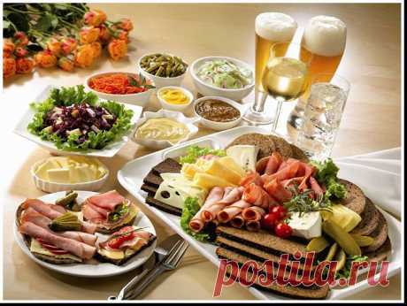 """Catalog of the best recipes. Part 1 """"Закуски and салаты""""."""
