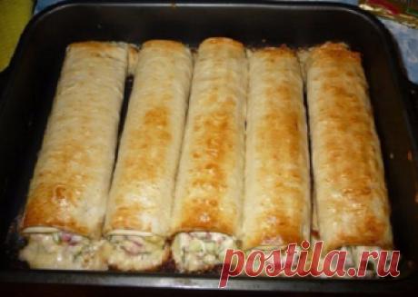Быстрый и сытный перекус - трубочки из лаваша | Вкусные рецепты | Яндекс Дзен