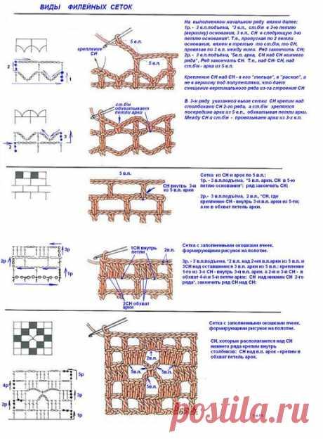 филейное вязания (узоры,теория) |