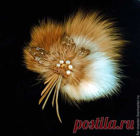 """– to buy a brooch from fur of a fox of \""""Paint of fall\"""" in online store at the Fair of Masters with delivery - 4OLLRRU"""