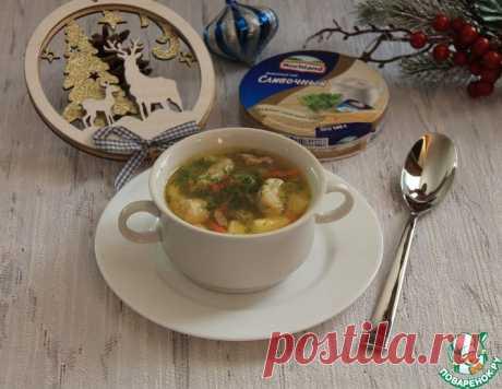 Курино-овощной суп с сырными галушками – кулинарный рецепт