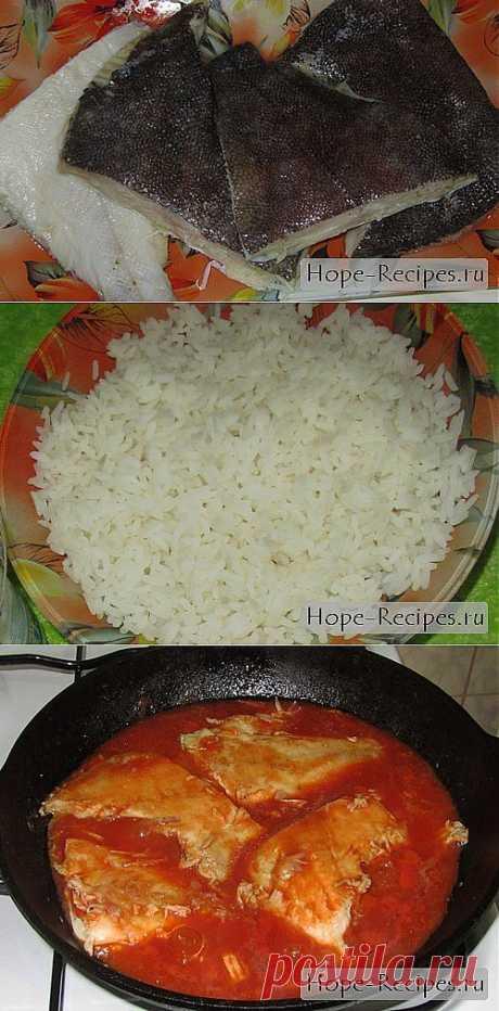 Жареная камбала в томатном соусе с рисом © Кулинарный блог #Рецепты Надежды