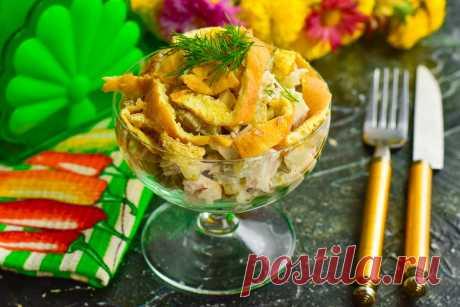 """Салат """"Идиллия"""" - отличный рецепт на любой праздник."""