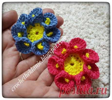 Crochet Heklanje: Moj rad 45 - Cvijet 11