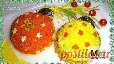 """Новогодний салат """"Разноцветные шары"""" - кулинарный рецепт. Миллион Меню"""