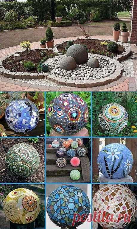 Дачный дизайн, декоративные шары