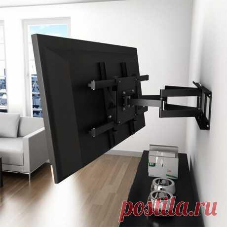 Устройства крепления телевизоров на гипсокартонную стену  Телевизоры все чаще монтируют на стену и не только по причине нехватки места. Такое решение меняет интерьер. Телевизор выступает еще и декоративным элементом, да и просматривать его удобнее, закрепив на определенной высоте. При необходимости можно изменять угол обзора и наслаждаться картинкой с разных мест.