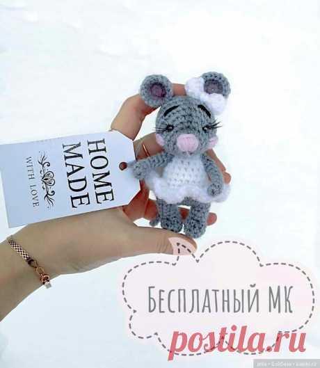 Мышка с описанием вязания / Схемы вязания игрушек / Бэйбики. Куклы фото. Одежда для кукол