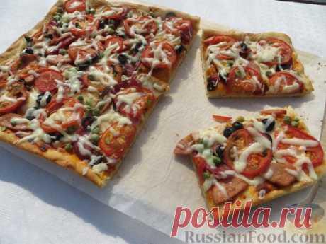 Домашняя пицца на дрожжевом тесте