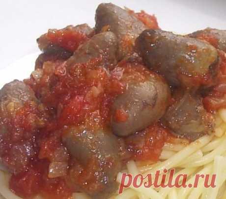 Куриные сердечки в томатном соусе : Вторые блюда