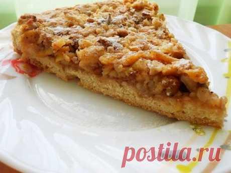 Вкусняшки: Венгерский ореховый пирог с яблоками